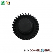 China Bulk price custom cylindrical 6063 Black anodized Aluminum Heat Sink factory