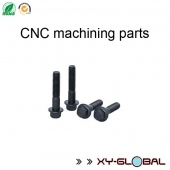 China CNC machined parts companies, Steel CNC machining screws with heat treatment factory
