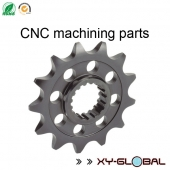 China CNC machined parts supplies, Custom made steel front sprockets factory