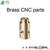 China CNC metal fabrication companies, Brass CNC Lathe Connector Shaft factory