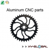 China China CNC machined parts factory, BMX bicycle aluminium CNC milling sprocket with black anodizing factory