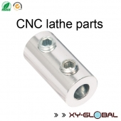 China aluminium CNC machining, Steel CNC lathe axle shaft coupler with polishing finish factory