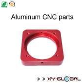 China aluminium CNC machining corporation, CNC precision machining aluminum parts with red anodizing finish factory