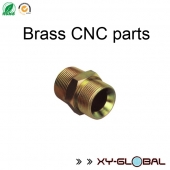 China brass cnc lathe machining threaded connector factory