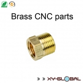 China custom CNC work, Brass CNC machining parts with bushing finish factory