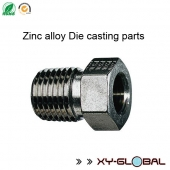 China zinc die casting parts China, Black nickel plating zince alloy reducing bushing factory